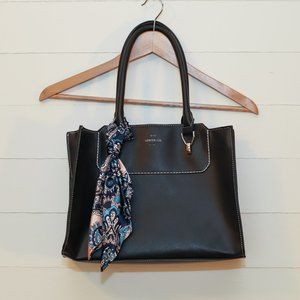 London Fog shoulder bag with attached scarf